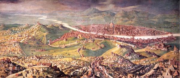 L'Assedio di Firenze - Sala di Clemente VII, Quartiere di Leone X, Palazzo Vecchio, Firenze