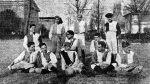1909 una delle prime formazioni del Firenze FC davanti a quello che ora è il Tiro a Segno al Parco Delle Cascine Firenze